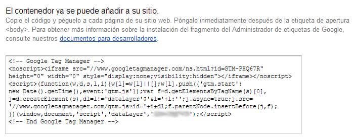 Etiqueta de Google Tag Manager