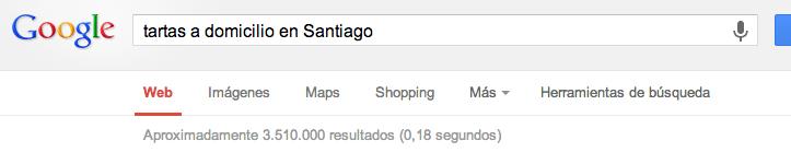 """Resultado de """"Tartas a Domicilio en Santiago"""""""