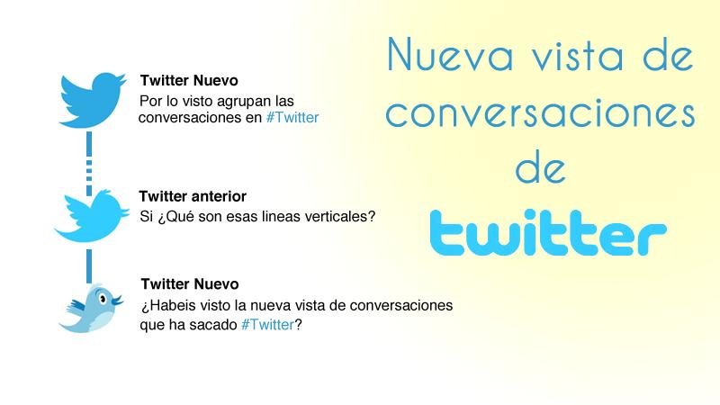Nueva vista de conversaciones en Twitter